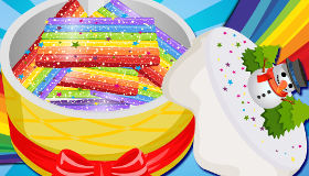 Receta de tarta arcoiris