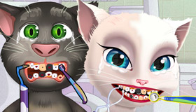 Talking Tom y Angela en el dentista