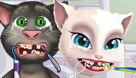 Talking Tom y Angela en el dentista