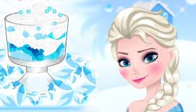 Un postre congelado con Elsa
