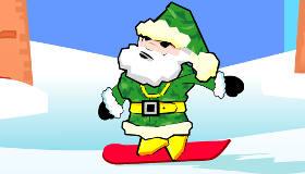 Papá Noel en snowboard