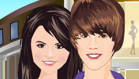 Justin Bieber y Selena Gomez van de compras