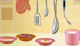 Cocina pasteles de caramelo