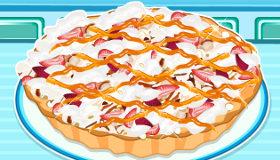 Tarta de fresa y avellana