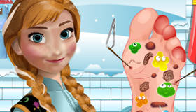 Frozen Anna en el hospital