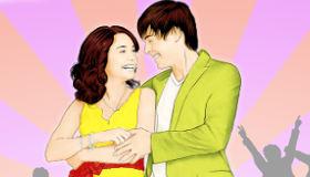 Colorea a Zack y Vanessa